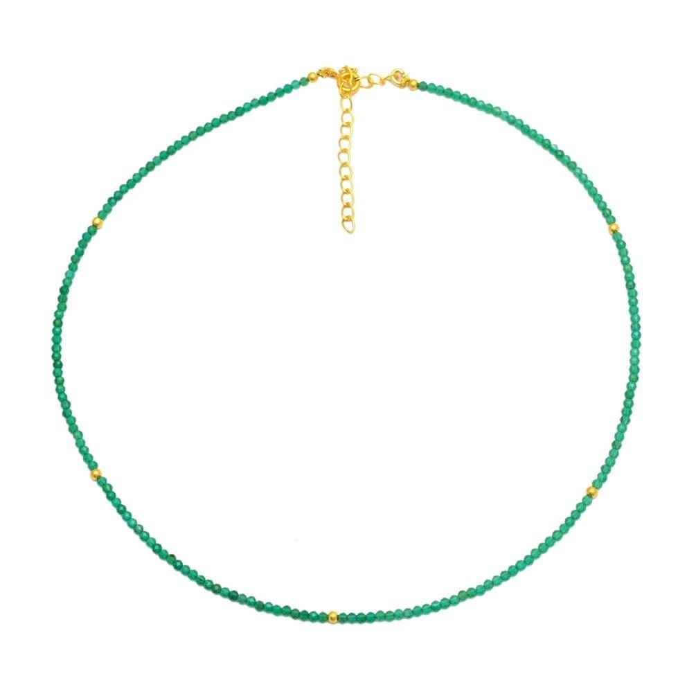 Collar Mineral Choker Onix Verde
