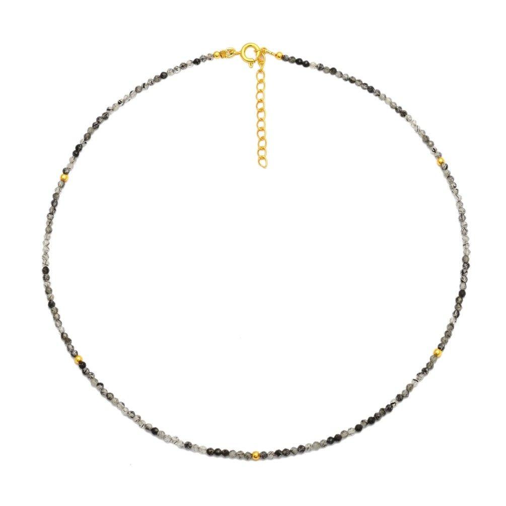 Collar Mineral Choker Cuarzo Rutilado