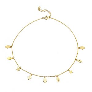 Collar Oro – Choker Charms