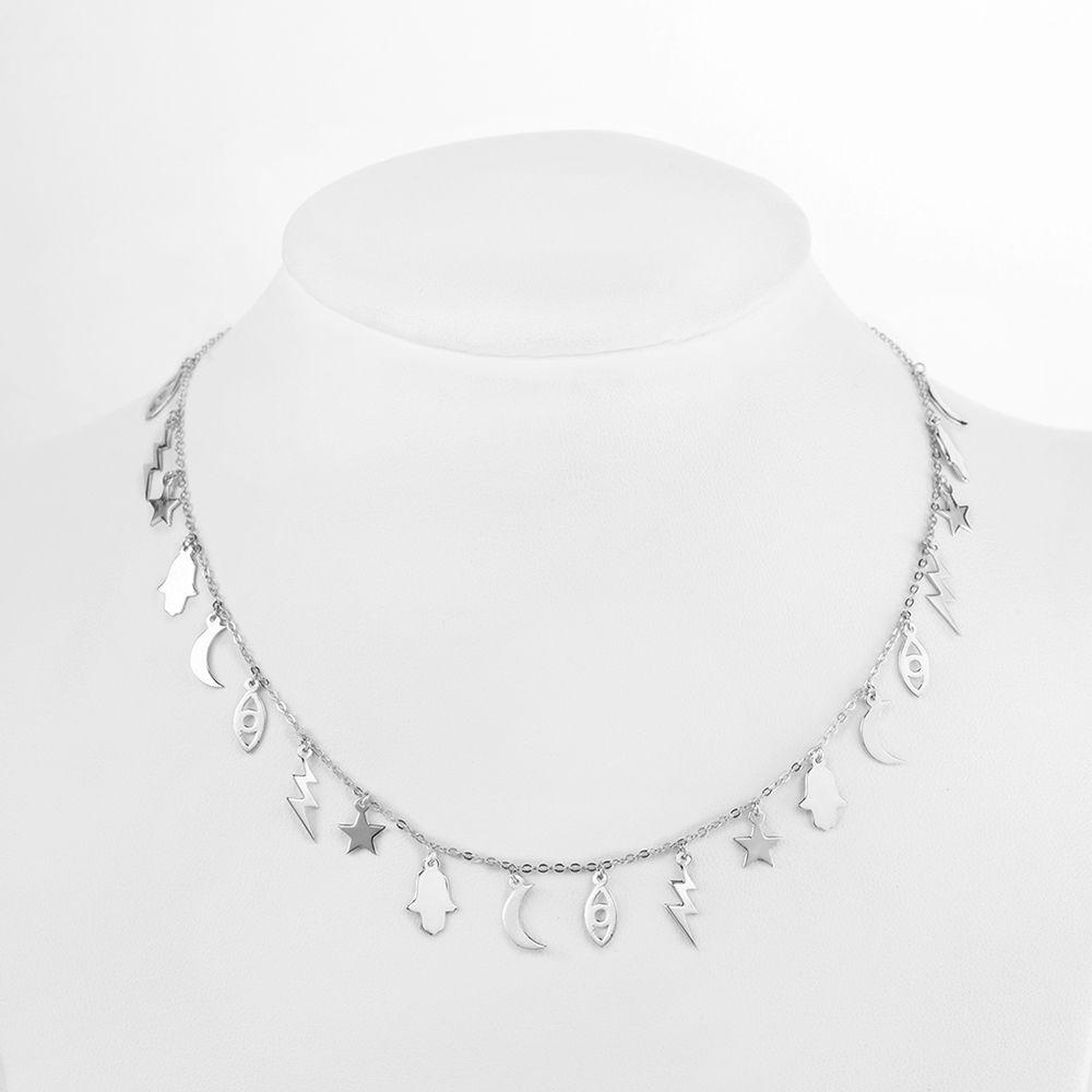 Collar Plata – Choker Charms